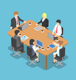 isometric business people meeting vector image vector image
