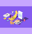 isometric concept the investors business vector image vector image