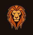 lion head with mane lion mascot vector image