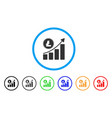 litecoin growing chart trend rounded icon vector image vector image