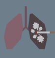 Lungs with Smoke vector image vector image