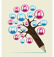 Member user concept pencil tree vector image vector image