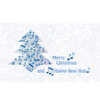 merry christmas greeting card design winter vector image vector image