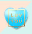 modern golden typography valentines day greetings vector image vector image