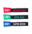 modern sale banners in memphis style vector image vector image