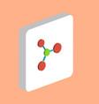 molecule computer symbol vector image vector image