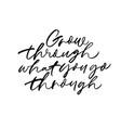 motivating slogan handwritten calligraphy vector image vector image