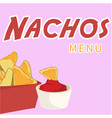 nachos menu nachos background image vector image