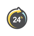 open around clock 24 hours icon vector image