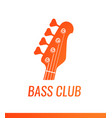 orange electric guitar headstock silhouette vector image
