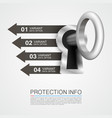 protection info art key banner vector image vector image