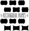 rectangular frame silhouette vector image