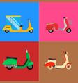 retro vespa scooter motorcycle travel vector image vector image