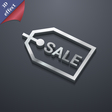 Sale icon symbol 3D style Trendy modern design vector image vector image