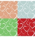 set hearts seamless pattern vector image vector image