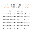 Set of trendy hipster arrows vector image