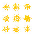 set tribal sun vector image vector image