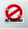 Sign no smoking on white background