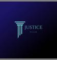 simple minimalist pillar attorney law firm logo de