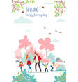 spring family day cute poster time vector image vector image
