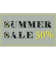 Summer Sale Fifty percents vector image