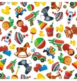 Toys seamless pattern for kids isolate on white vector image vector image