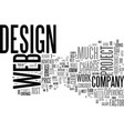 web design work and how to price the services vector image vector image