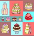 wedding cake banner chocolate vector image vector image