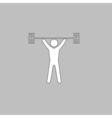 Weightlifting computer symbol vector image vector image