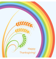 wheat ears and rainbow vector image