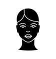 woman face glyph icon vector image