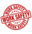 work safety red grunge stamp vector image vector image