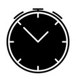 alarm clock silhouette icon symbol vector image