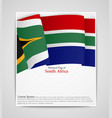 national flag brochure of south africa vector image