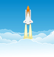 Wide Sky and Shuttle vector image