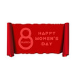 8 march womens day design vector image