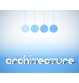 Abstract Combination of Word Architecture vector image