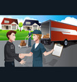 advertising for moving company vector image
