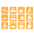 Airport icons v8 vector image vector image