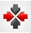 arrows icon template vector image vector image