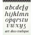 Art Deco Alphabet vector image vector image