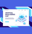 artificial intelligence chip machine learning vector image