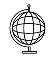 black and white world map graphic vector image vector image