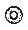 black icon on white background donut with vector image vector image