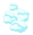 blue clouds vector image vector image