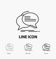 bubble chat communication speech talk icon in vector image