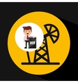 businessman oil industry pumping vector image