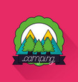 camping summer related vector image vector image