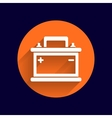 car battery icon electric power sign vector image