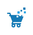 cart pixels graphic icon design template vector image vector image